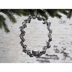 Wreath for tealight w. hanging