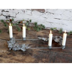 Advent Candleholder w. pine cones