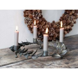 Advent Candleholder w. leaves
