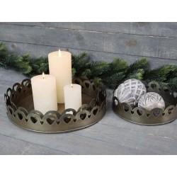 Candle Tray w. decor edge set of 3