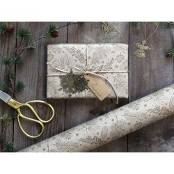 Gift Wrapping Paper w. pine cones