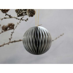 Christmas Bauble in paper for hanging