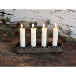 Advent Candleholder w. lace edge