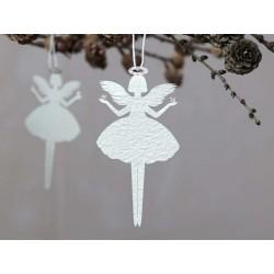 Angel in paper w. glitter set of 6