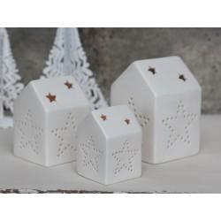Lighthouse w.stars (X15) white ceramics