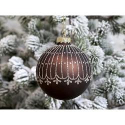 Christmas Bauble w. glitter pattern