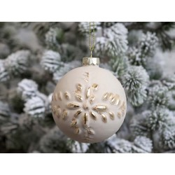 Christmas Bauble w. gold pattern