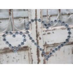 """Heart wreath zinc """"Daisy"""" H25 cm"""