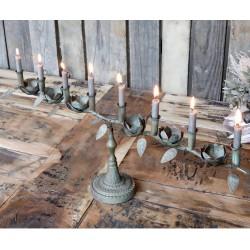 Metalowy Świecznik Chic Antique Podłużny