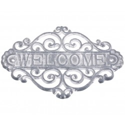 Żeliwna Tablica Welcome Chic Antique Szara
