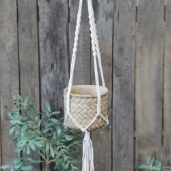Braided Holder for flower pot excl. pot