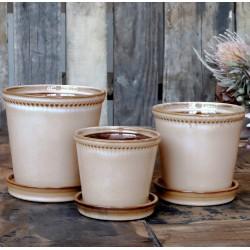 Ceramiczna Osłonka Ozdobna Chic Antique z Podstawką Nimes A