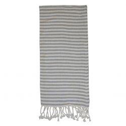 Ręcznik Plażowy Chic Antique Hammam w Szare Pasy A