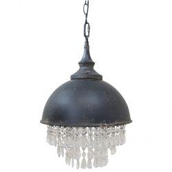 Lampa Industrialna Factory z Kryształkami