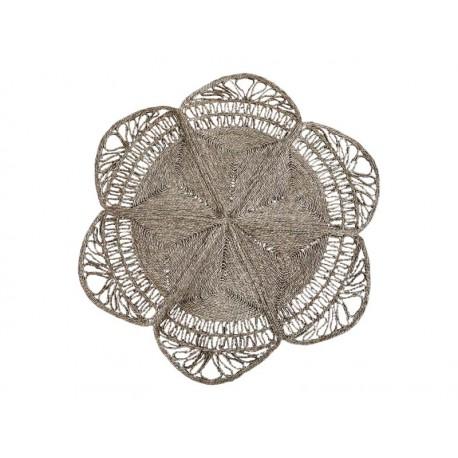 Pleciony Dywanik Okrągły Chic Antique z Trawy Morskiej B