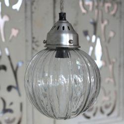 Szklana Lampa Kula Chic Antique 2