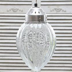 Szklana Lampa Chic Antique Paski