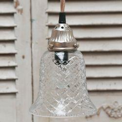 Szklana Lampa Chic Antique Dzwonek B