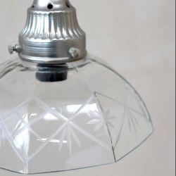 Szklana Lampa Chic Antique Gwiazdki B