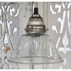 Szklana Lampa Chic Antique