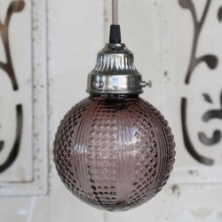 Szklana Lampa Chic Antique Kula Fiolet