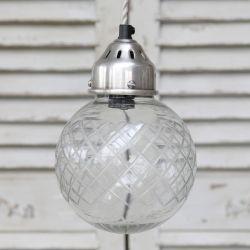 Szklana Lampa Chic Antique Kula 4