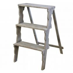 Ladder (S20) w. 3 steps recycled wood