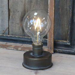 Lampka Industrialna Chic Antique z Ozdobną Żarówką D