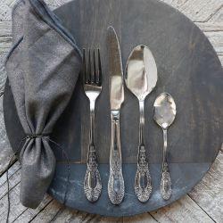 Cutlery w. decor set of 4