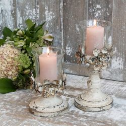Candlestick (S20) w. flower decor