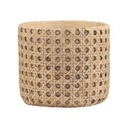 Corte Flowerpot w. French wicker pattern
