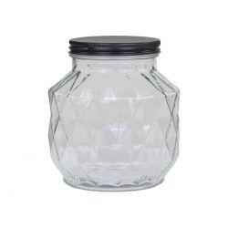 Storage Jar w. diamond cut