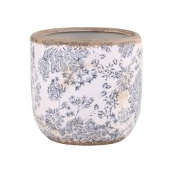 Melun Flowerpot w. French pattern