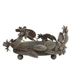 Candle Tray w. leaves
