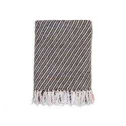 Throw of surplus yarn w. stripes