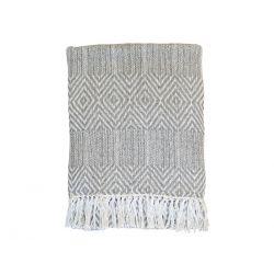 Throw of surplus yarn w. pattern