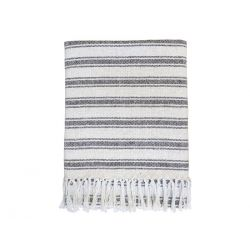 Throw surplus yarn w. grain sack stripe