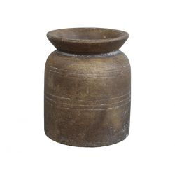 Vase w. grooves for deco