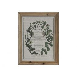 Picture w. floral print & nature frame