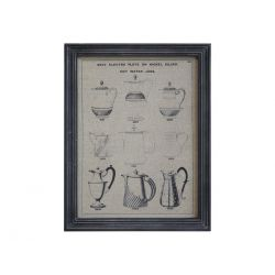 Picture w. jugs & black frame