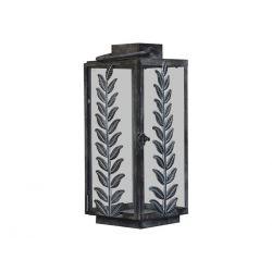 Lantern w. leaf decor