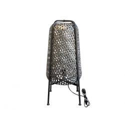 Lamp w. braided pattern
