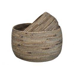 Water Hyacinth Baskets set of 2