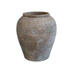 Terracotta Pot w. pattern