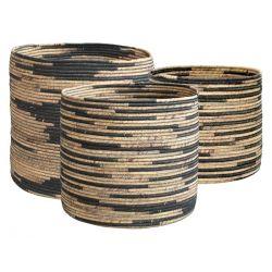 Water Hyacinth Baskets set of 3