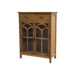 Chest of drawers w. curved glass doors