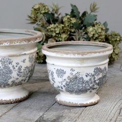 Ceramiczna Osłonka Na Doniczkę Chic Antique Melun E