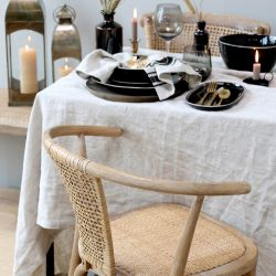 Lniany Obrus Beżowy Chic Antique A