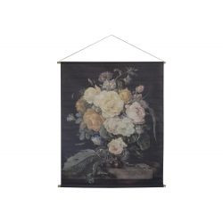 Canvas for hanging w. floral print