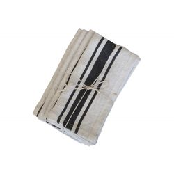 Napkin w. grain sack stripe set of 4